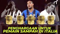 Bidone D'oro, Penghargaan Pemain Terburuk Serie A & Siapa Saja Pemain Yang Pernah Mendapatkannya