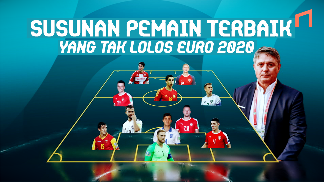 Starting XI Pemain Bintang dari Negara yang Absen di EURO 2020