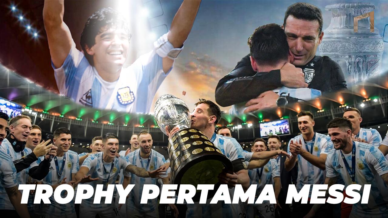 Akhirnya Juara! Begini Cara Timnas Argentina Kuasai Turnamen Copa America 2021
