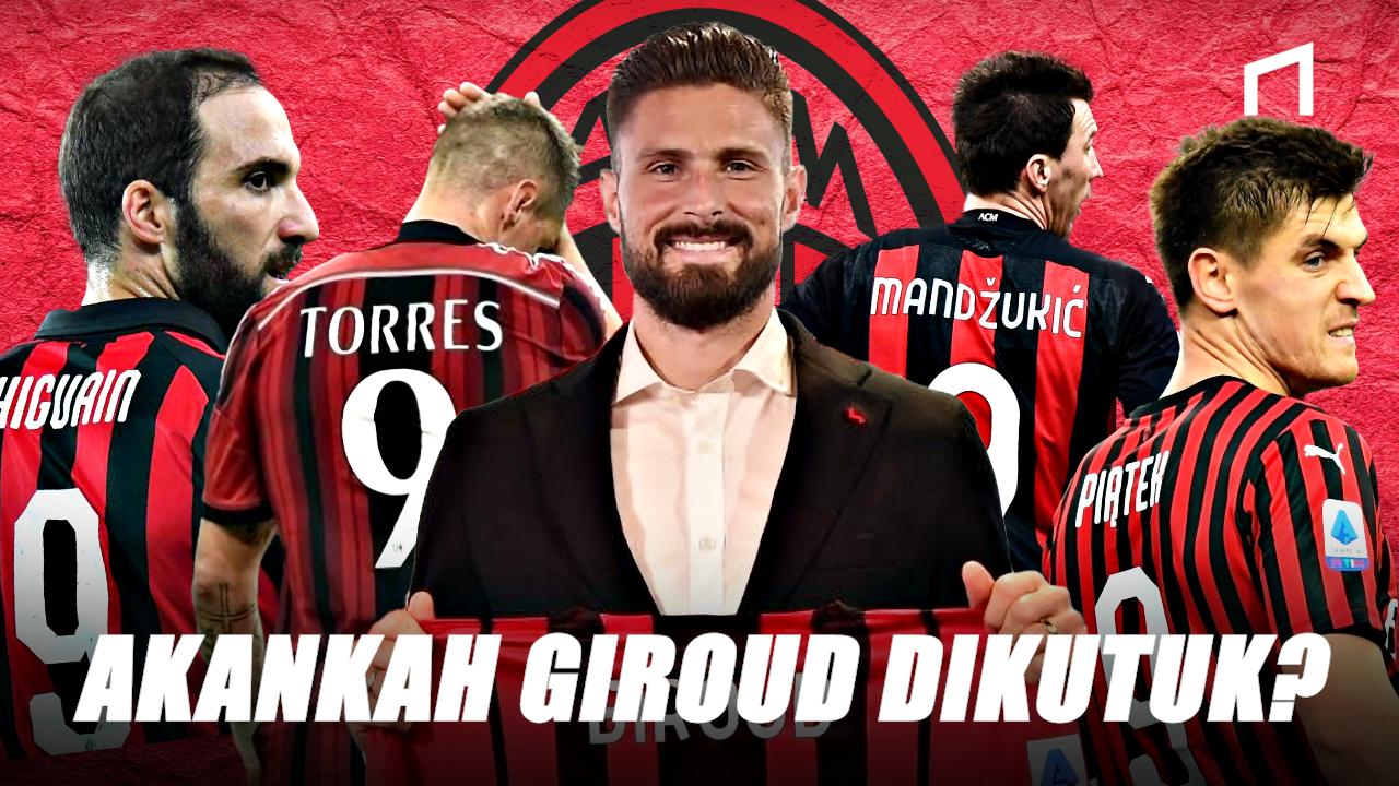Pakai Nomor 9, Olivier Giroud Menantang Maut di AC Milan