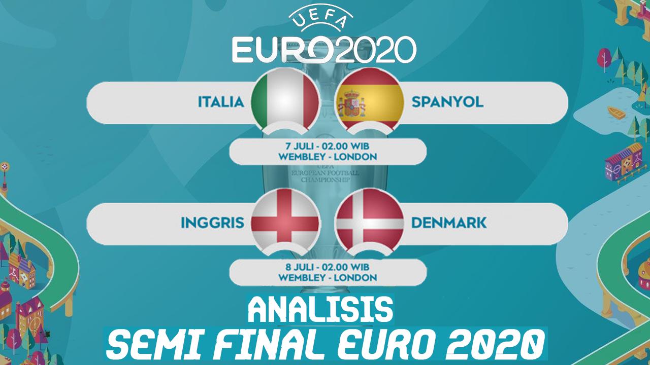 Peta Kekuatan 4 Tim Tersisa di Semifinal Euro 2020
