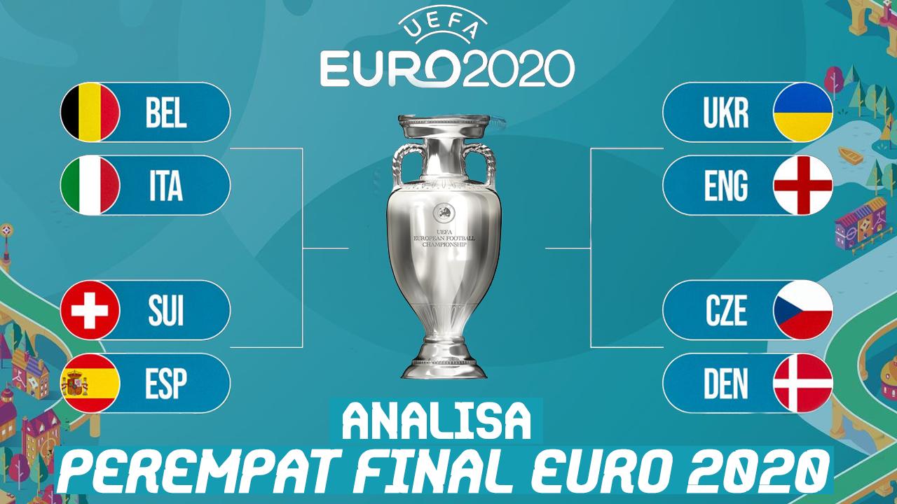 Peta Kekuatan 8 Tim di Perempat Final Euro 2020